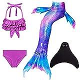 Mädchen Meerjungfrauen mit Meerjungfrau Flosse zum Schwimmen 4...